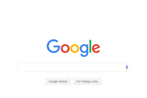 screenshot of google search page